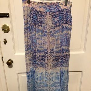 Anthropologie multicolored maxi skirt